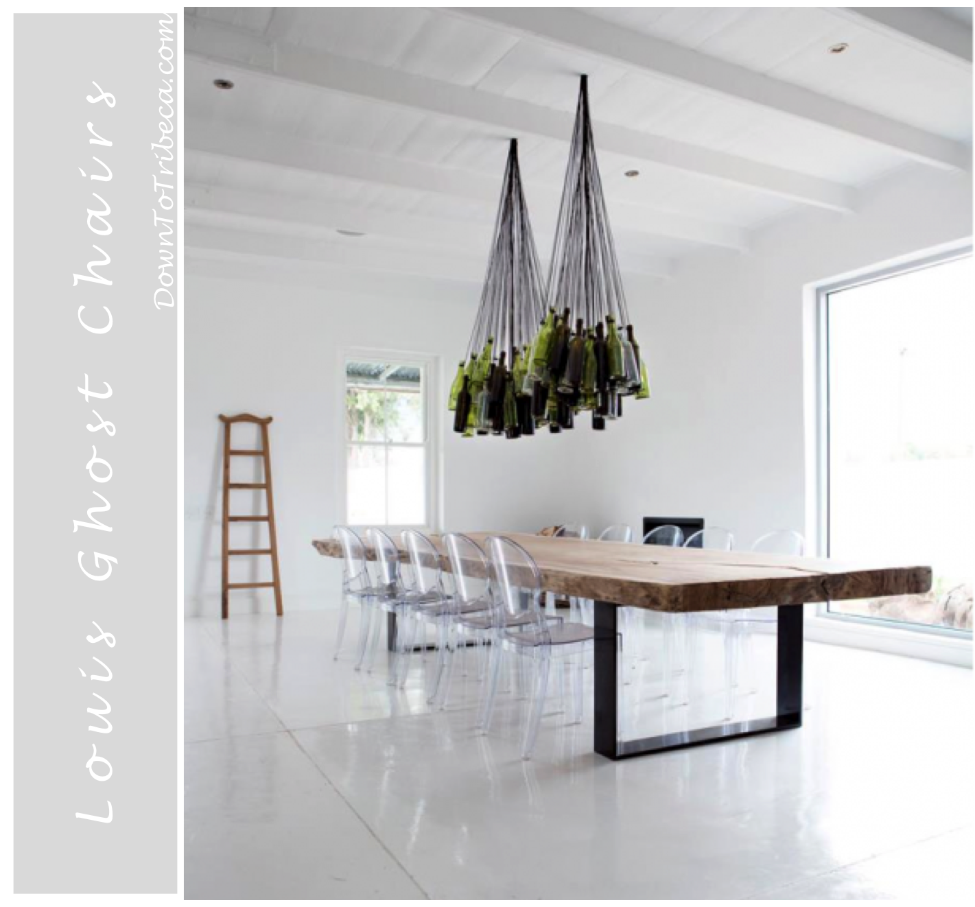 i have always been a big fan of the louis ghost chairs i love how simple they are yet modern and can work in any type of decorating environment when i